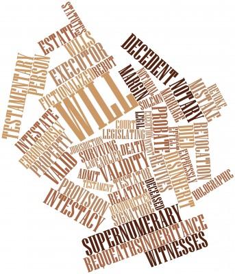 Image of Estate Planning legal words