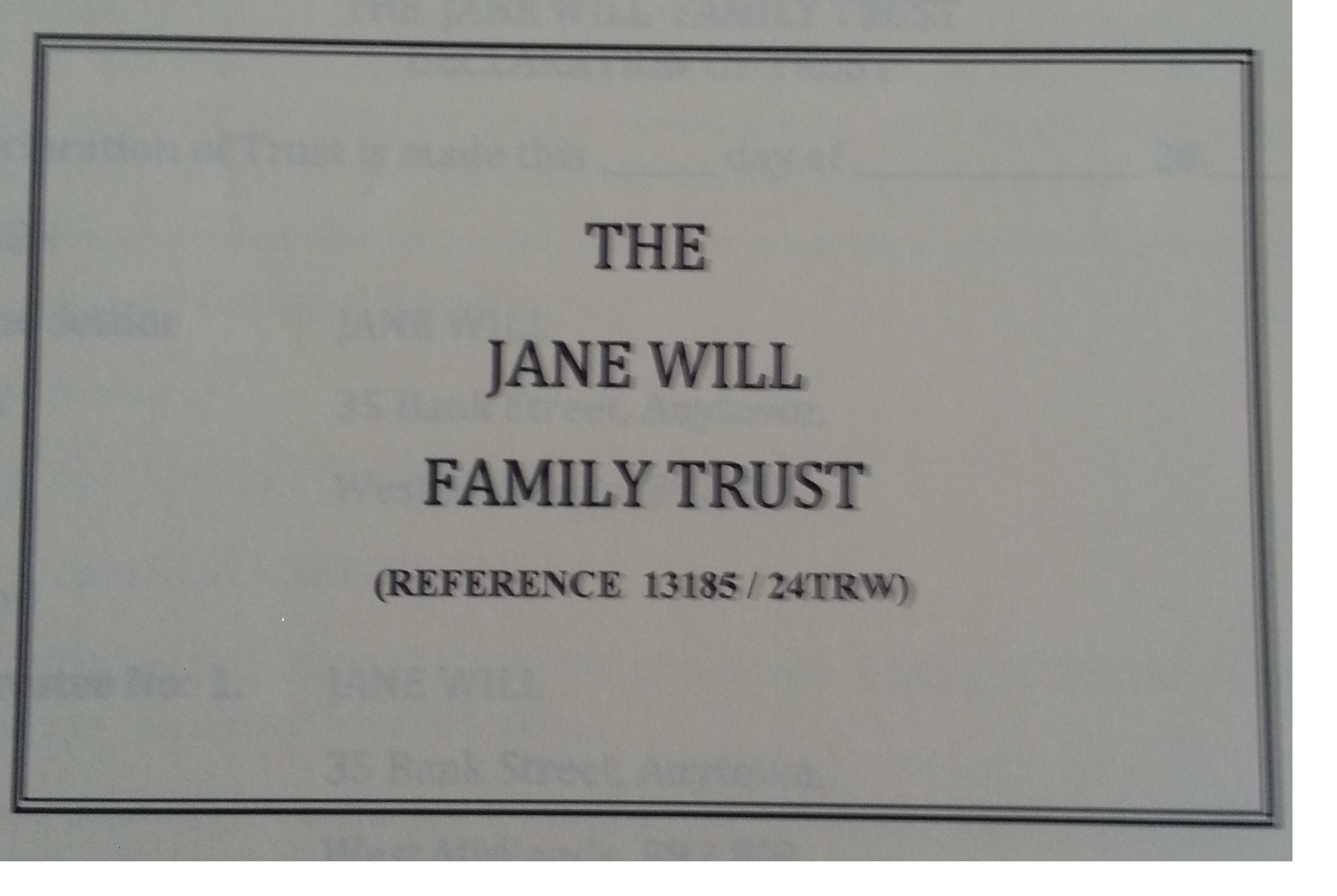 image of family Trust